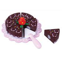 עוגת שוקולד צעצוע מעץ מלא