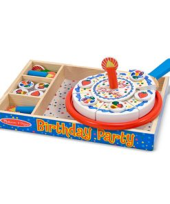 ערכה מעץ להכנת עוגת יום הולדת לילדים