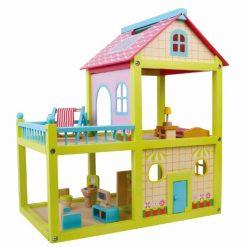 בית בובות לילדים שתי קומות מעץ מלא