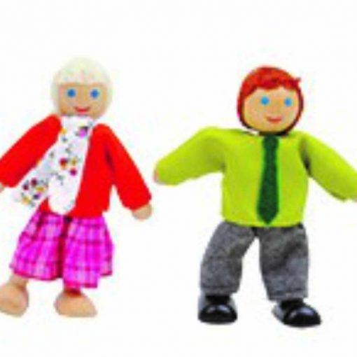 בובות עץ לבית בובות
