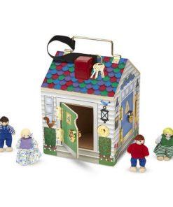 בית פעמונים + 4 דמויות עץ