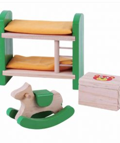 ריהוט מעץ מלא לבית בובות, חדר ילדים לבית בובות