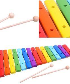 קסילופון צבעוני כלי הקשה עשוי עץ