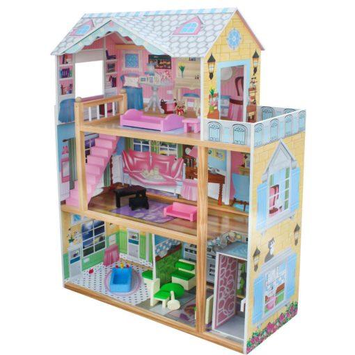 בית בובות מעץ שלוש קומות דגם סאלי