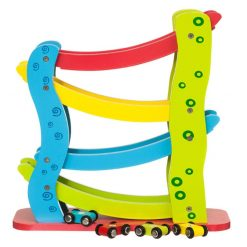צעצוע מעץ, מגלשת מכוניות מעץ צבעונית