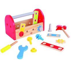 ארגז כלים דינאמי מעץ מלא לילדים