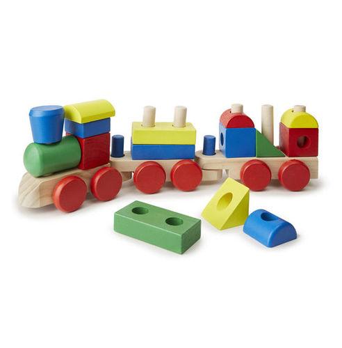 רכבת צורות מעץ