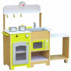 מטבח לילדים מעץ דגם צרפתי גוון צהוב