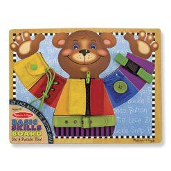 לוח כישורים מוטוריים דובי מעץ