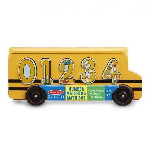אוטובוס מעץ התאמת מספרים