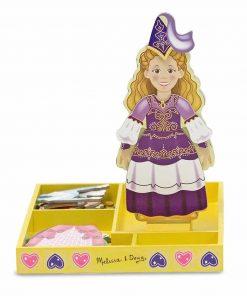 משחק הלבשה מגנטי לבובה מעץ – הנסיכה אליס