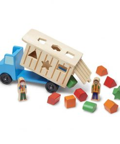 משאית אשפה מעץ התאמת צורות