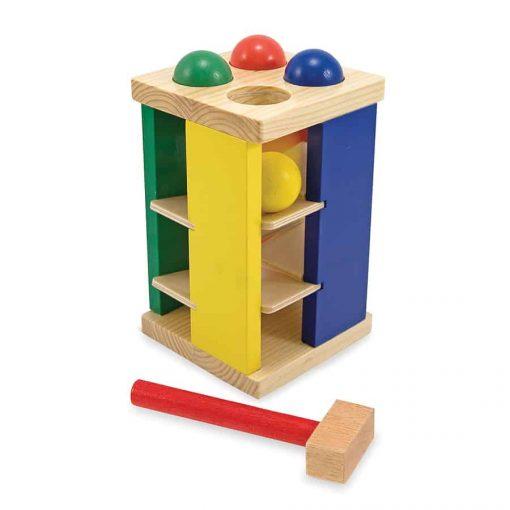 מגדל הך פטיש כדורים מעץ