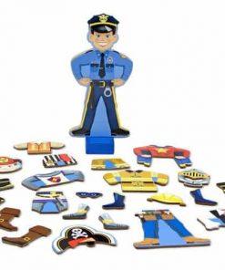 משחק הלבשה מגנטי לבובה מעץ – ג'ואי