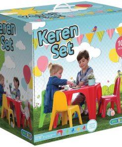 סט שולחן וארבעה כסאות פלסטיק לילדים