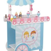 דוכן-גלידה-מעץ-לילדים-כולל-12-אביזרי-גלידה-תא-אחסון-עליון-ידית-נשיאה-וגלגלים