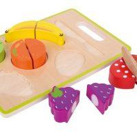 משטח חיתוך פירות מעץ לילדים