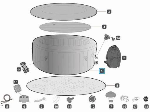 Bestway Lay-Z-Spa ST.MORITZ מערכת ספא מתנפחת מבית -1