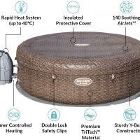 Bestway Lay-Z-Spa ST.MORITZ מערכת ספא מתנפחת מבית