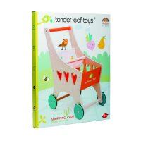 טנדר ליפ Tender Leaf - עגלה לבובה מעץ מלא עם טבעת גומי בגלגלים למניעט החלקה