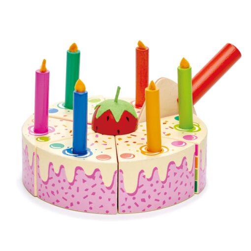 טנדר ליפ Tender Leaf - עוגת יום הולדת בצבעי הקשת 14 חלקים