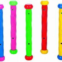 סט משחק צלילה לבריכה לילדים בעיצוב מקלות מבית INTEX דגם 55504 הכולל 5 מקלות צבעוניים.