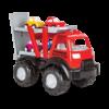 Pilsan פילסאן - משאית בנייה לילדים הכוללת 4 מכוניות, דלת אחורית מטלטלת ורמפת טעינה.