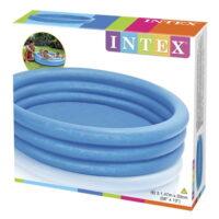 בריכת פעילות מתנפחת לפעוטות, בעיצוב של גלידה 3 קומות בצבע כחול דגם אינטקס 57426 קוטר 147ס