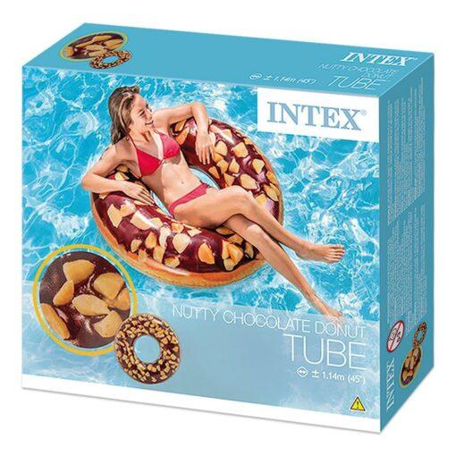 אבוב מתנפח לים ולבריכה בעיצוב דונאט שוקולד מבית INTEX דגם 56262