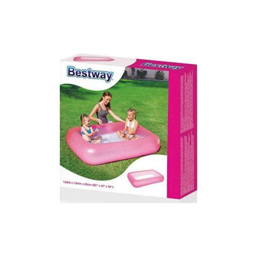 """בריכה מתנפחת לילדים בצורת מלבן מבית Bestway דגם 51115 במידות 165X104X25 ס""""מ"""